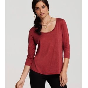 EUC Eileen Fisher Red Long Sleeve